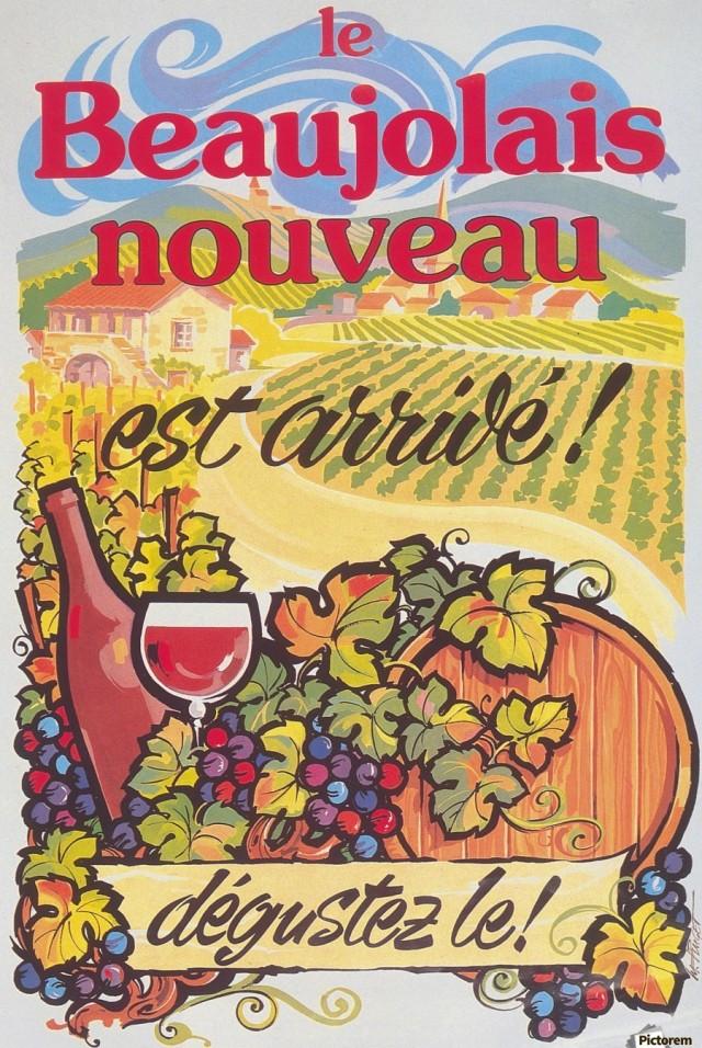 900_Le Beaujolais nouveau est arrive poster